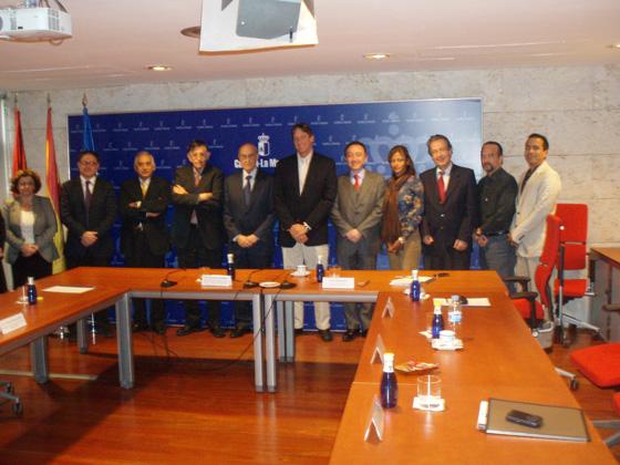 Reunión Directivos Consejería de Salud y Bienestar Social Castilla-La Mancha, Caja del Seguro Social de Panamá y Organización Iberoamericana de Seguridad Social