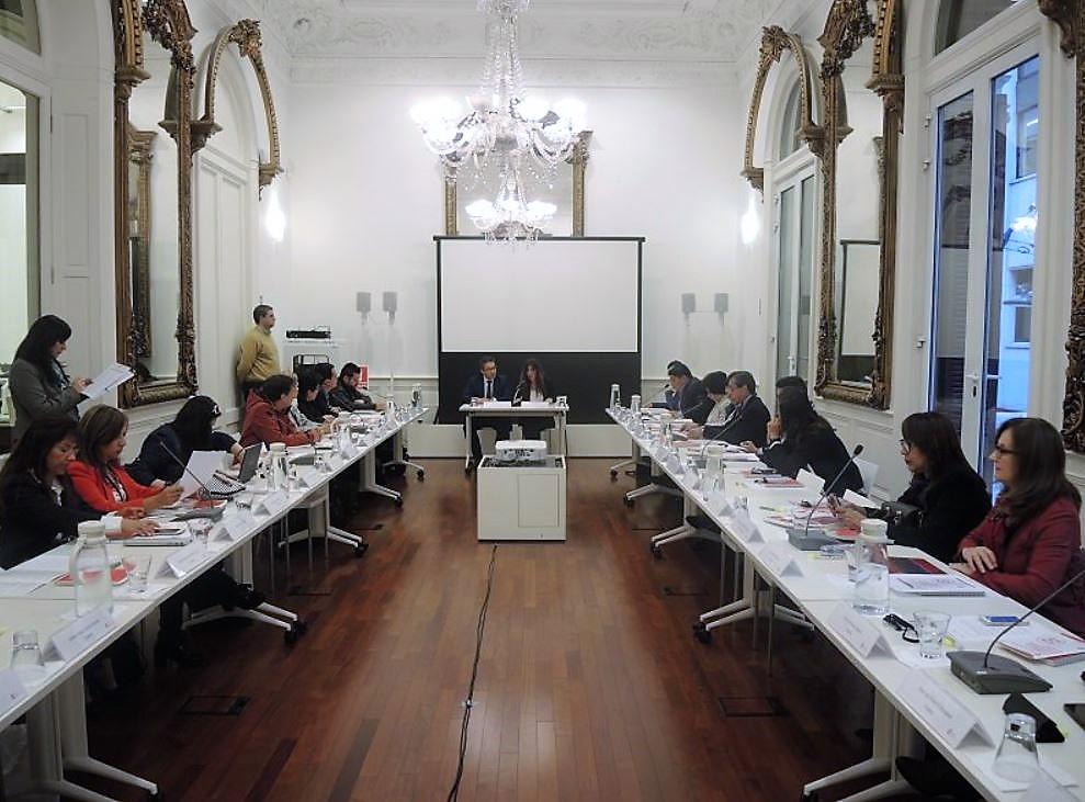 Foto del grupo del curso en la instalación de la primera jornada
