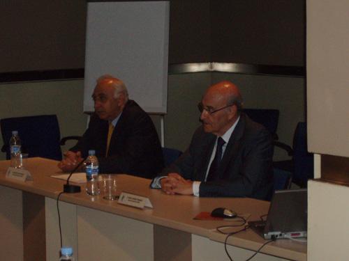 Adolfo Jiménez Fernández, Secretario General de la OISS y Francisco M. Jacob Sánchez, Vicesecretario General de la OISS