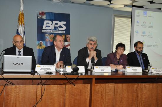 Adolfo Jiménez Fernández, Ernesto Murro, Eduardo Brenta, Ana Vignoli y Andrés Scagliola