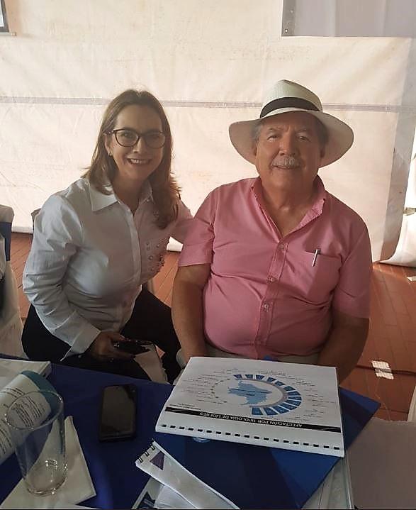En la foto la secretaria general de la OISS, Gina Magnolia Riaño Barón y el Ministro de Defensa de Colombia, Guillermo Botero