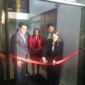 En la inauguración de las obras civiles del CIAPAT en la Universidad Manuela Fieltrán (Bogota, Colombia)