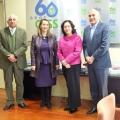 Visita a la Secretaría General de la OISS de la Vicecanciller de Bolivia y el Embajador de Bolivia en España.
