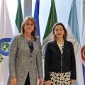 Visita de la ministra del Trabajo de Colombia a la Secretaría General de la OISS.