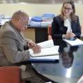 Visita del presidente del Tribunal Constitucional de la República Dominicana a la secretaria general de la OISS.