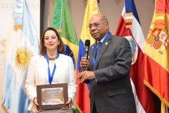 La OISS recibe reconocimiento del presidente del Tribunal Constitucional de República Dominicana, por su 65 años de aportes a la Seguridad y Protección Social de Iberoamérica