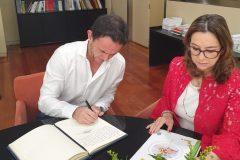 La secretaria general de la OISS recibe la visita del Superintendente de Servicios de Salud de Argentina