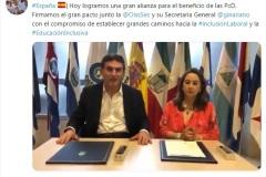 Consejero Presidencial de Colombia y la OISS suscriben Pacto Internacional por la política pública de Discapacidad