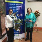 La Secretaria General de la OISS, Gina Magnolia Riaño Barón y la Ministra de Trabajo de Colombia, Clara López