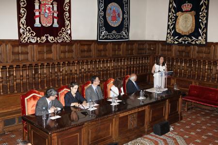 La representante de los estudiantes del Máster en Dirección y Gestión de Planes y Fondos de Pensiones, Marta Nelly Vásquez Funes