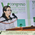 En la fotografía, Doctora Gina Magnolia Riaño Barón, Directora del Centro Regional de la OISS para Colombia y el Área Andina en la apertura del V Congreso Iberoamericano de Órganos de Regulación y Control de los Sistemas de Salud