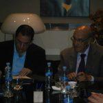 De izquierda a derecha: Francisco Vacas Dávila, Ministro de Relaciones Laborales del Ecuador y Adolfo Jiménez, Secretario General de la OISS