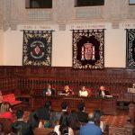 Foto en desarrollo de la ceremonia de clausura