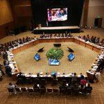 Foto panorámica de momentos de la IV Conferencia Mundial sobre la erradicación sostenida del trabajo infantil