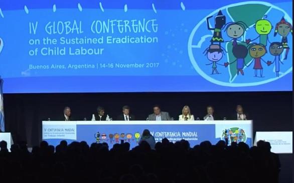 Momento de apertura de la IV Conferencia Mundial sobre la Erradicación Sostenida del Trabajo Infantil