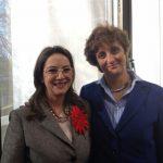 A la izquierda la Secretaria General de la OISS, Gina Magnolia Riaño Barón con Antonella Schulte-Braucks, de la Dirección General de Empleo, Asuntos Sociales e Inclusión -Comisión Europea