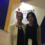 La Secretaria General de la OISS, Gina Magnolia Riaño Barón y la Ministra de Salud de Guatemala, Lucrecia Hernández Mack