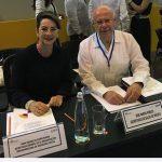 La Secretaria General de la OISS, Gina Magnolia Riaño Barón y el Ministro de Salud de México, José Narro