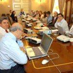 Adolfo Jiménez, Secretario General de la Organización Iberoamericana de la Seguridad Social, OISS, y Hugo Cifuentes, Director OISS Chile, en su exposición ante los miembros del Consejo Asesor.