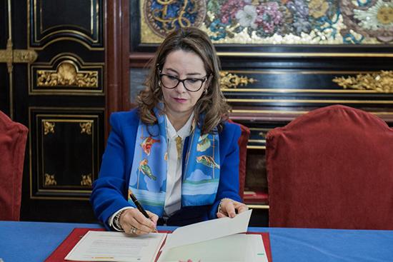 La Secretaria General de la OISS, Gina Magnolia Riaño Barón