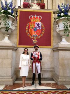 Gina Magnolia Riaño Barón, Secretaria General de la OISS en acto de recepción en el Palacio Real de Madrid