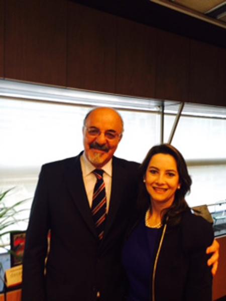Carlos Tomada,  Ministro de Trabajo, Empleo y Seguridad Social de Argentina y Gina Magnolia Riaño Barón, Secretaria General de la Organización Iberoamericana de Seguridad Social
