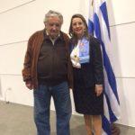 El Presidente de Uruguay, José Mujica y la Secretaria General de la OISS, Gina Magnolia Riaño Barón