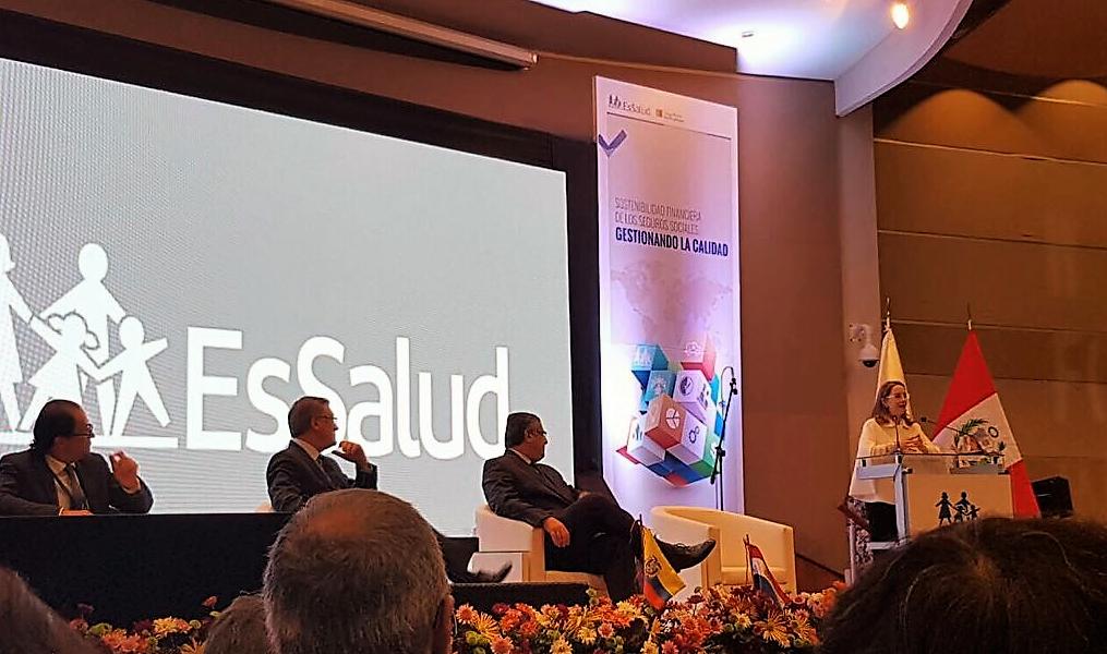 Intervecinción de la secretaria general de la OISS, Gina Magnolia Riaño Barón