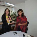En la fotografía de izquierda a derecha: Gina Magnolia Riaño Barón, Secretaria General de la Organización Iberoamericana de Seguridad Social y Elisa Carolina Torrenegra, Directora Ejecutiva de Gestarsalud.