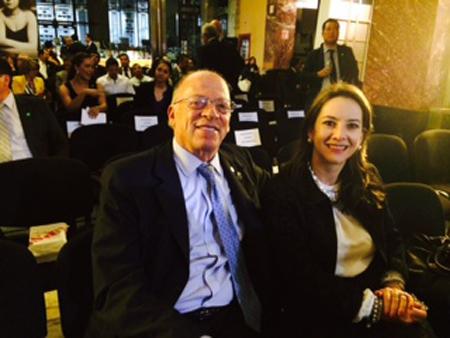 Enrique Santos Calderon, director del diario el Tiempo de Colombia y Gina Magnolia Riaño Barón, Secretaria General de la OISS