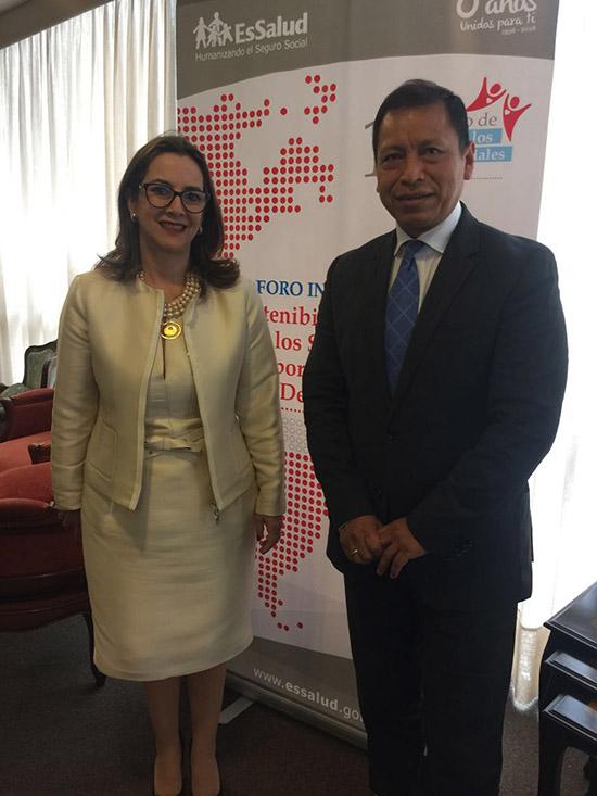 Encuentro Secretaria General de la OISS y Ministro de Trabajo de Perú
