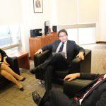 La Secretaria General de la OISS, Gina Magnolia Riaño Barón, el Subsecretario de Previsión Social de Chile, Marcos Barraza y el Delegado Nacional de la OISS en Chile, Hugo Cifuentes