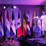 La Secretafria General de la OISS, Gina Magnolia Riaño Barón, durante su intervención intervención