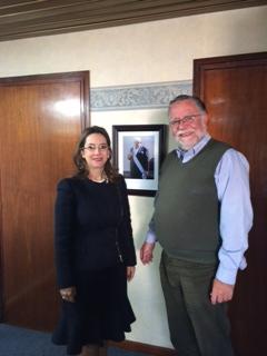 La Secretaria General de la OISS, Gina Magnolia Riaño Barón  y el Ministro de Trabajo y Seguridad Social de Uruguay, Jose A Bayardi