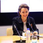 La nueva Secretaria General de la OISS, Dra Gina Magnolia Riaño Barón, una vez terminado su discurso de posesión