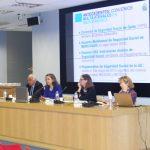 La Secretaria General de la OISS, Gina Magnolia Riaño Barón, en su intervención explica a los Jueces el Convenio Multilateral Iberoamericano de Seguridad Social