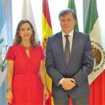 EN la foto: La secretaria general de la OISS, Gina Magnolia Riaño Barón y el Director General del IICA, Manuel Otero