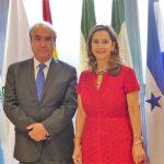 En la foto: El secretario general de la OEI, Mariano Jabonero y la secretaria general de la OISS, Gina Magnolia Riaño Barón