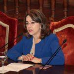 La Secretaria General de la OISS, Gina Magnolia Riaño Barón durante su intervención