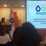El la foto la secretaria general de la OISS, Gina Magnolia Riaño Barón