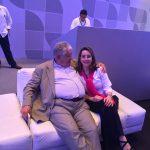 El Presidente de la República Oriental del Uruguay, José Mujica y la Secretaria General de la OISS, Gina Magnolia Riaño Barón