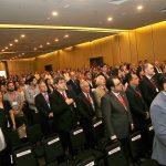 Foto panorámica de asistentes al evento