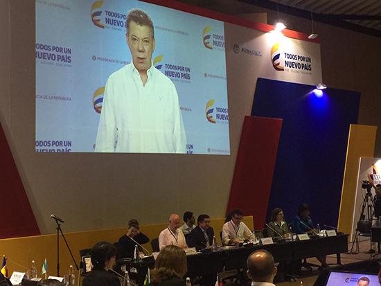 Intervención del Presidente de Colombia, Juan Manuel Santos