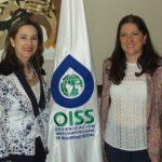 Gina Magnolia Riaño Barón, Secretaria General de la OISS y Laura Patricia Ospina Mejía, Decana de Derecho de la Universidad del SINU de Colombia