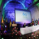 """La Secretaria General de la OISS, Gina Magnolia Riaño Barón, en su intervención en el Seminario """"Protección Social en Iberoamérica 1954-2014, Pasado Presente y Futuro"""""""