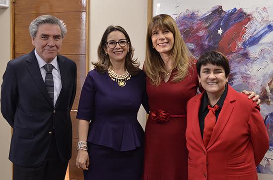 Reunión secretaria general de la OISS y ministra de Trabajo y Previsión Social de Chile