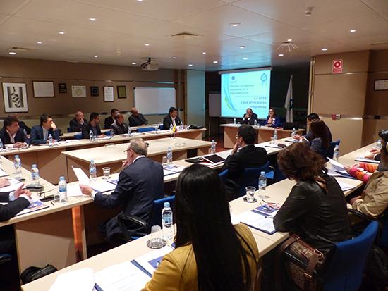 En la Sede de la Secretaria General de la OISS en Madrid