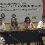 La Secretaria General de la OISS, Gina Magnolia Riaño Barón en la clausura del seminario