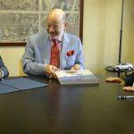 De izquierda a derecha: Adolfo Jiménez Fernández, Secretario General de la Organización Iberoamericana de Seguridad Social; César Medina Abréu, Embajador Extraordinario y Plenipotenciario de República Dominicana en España; Enrique Iglesia, Secretario General Iberoamericano