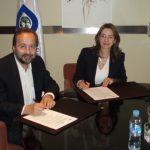 José Carlos Bermejo Higuera, Director General del Centro de Humanización de la Salud y Gina Magnolia Riaño Barón, Secretaria General de la OISS